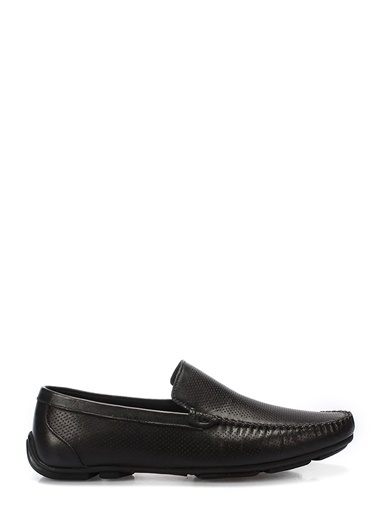 İnci %100 Deri Loafer Ayakkabı Siyah